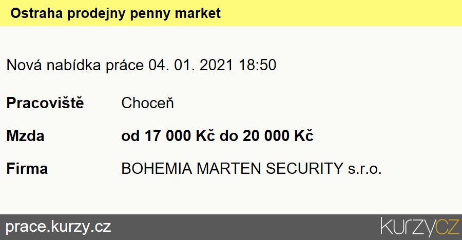 Ostraha prodejny penny market, Pracovníci ostrahy, strážní